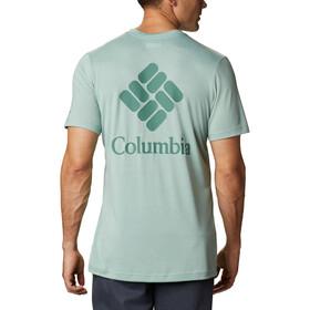 Columbia Maxtrail Camiseta Logo Manga Corta Hombre, aqua tone